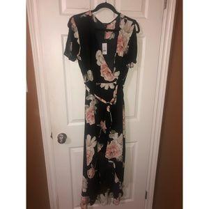 Dynamite Floral Wrap Dress